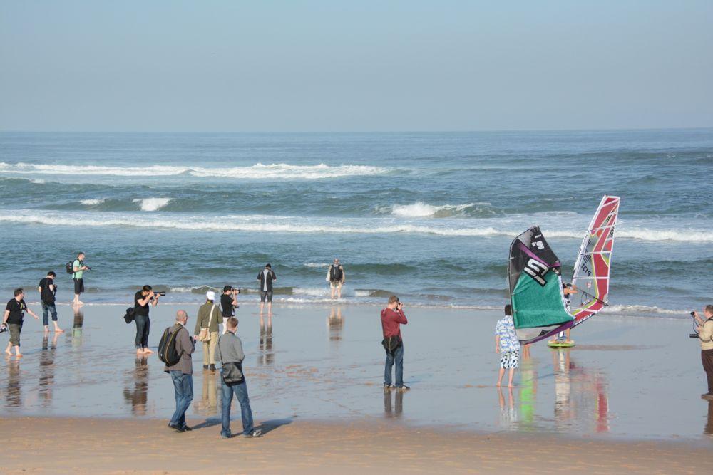 Set fotografico sulla spiaggia