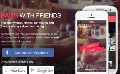 Bang with Friends su Facebook: proposte indecenti in anonimato