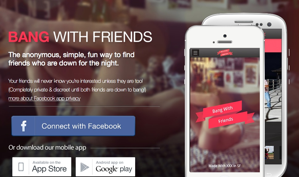 Bang with Friends su Facebook: proposte indecenti in anonimato