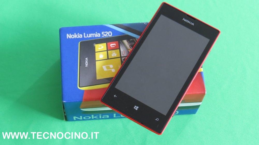 Nokia Lumia 520 confezione di acquisto