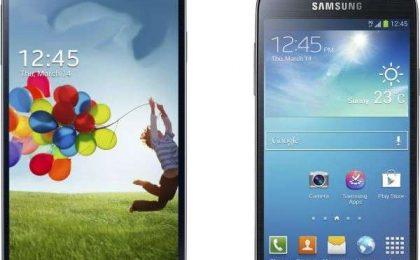 Samsung Galaxy S4 vs Samsung Galaxy S4 Mini: confronto [FOTO]