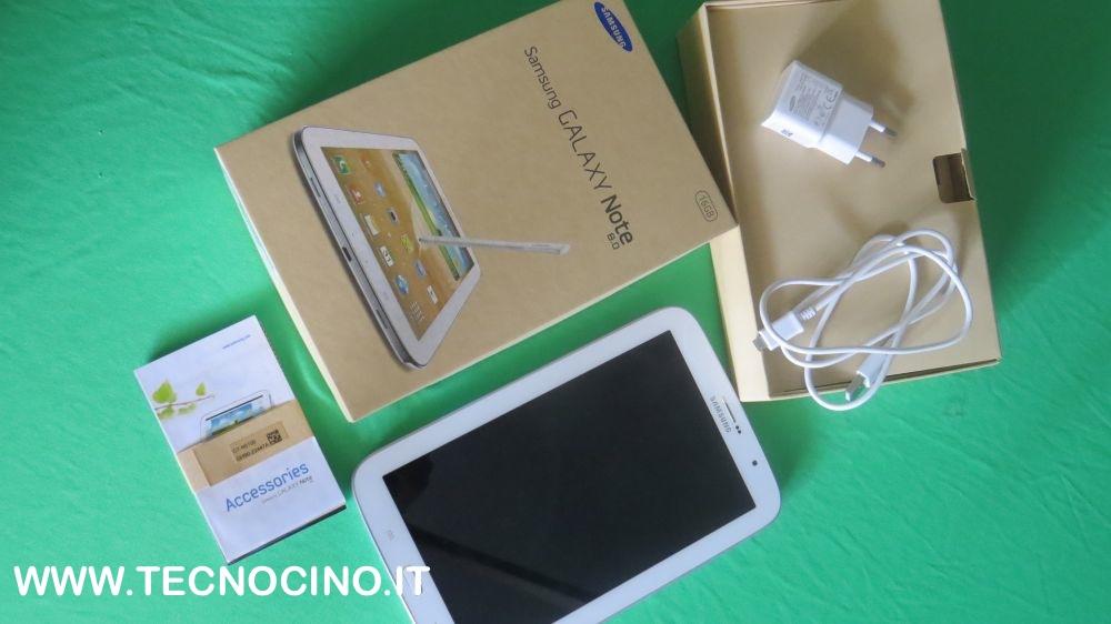 Interno confezione acquisto Samsung Galaxy Note 8