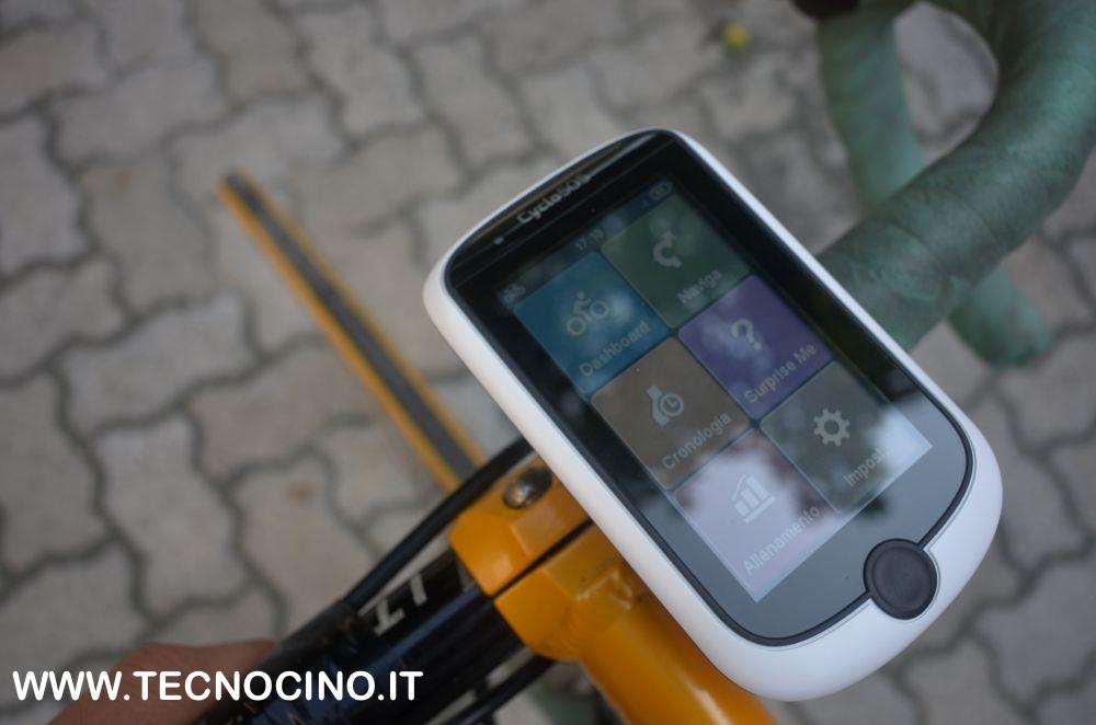 Mio Cyclo 505 sul manubrio