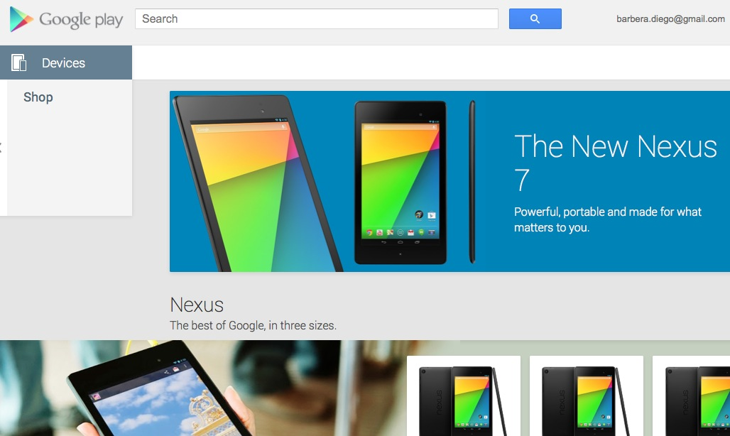 Google Play Store Devices in Italia finalmente disponibile