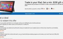 Surface al posto di iPad: Microsoft offre 200 dollari [FOTO e VIDEO]
