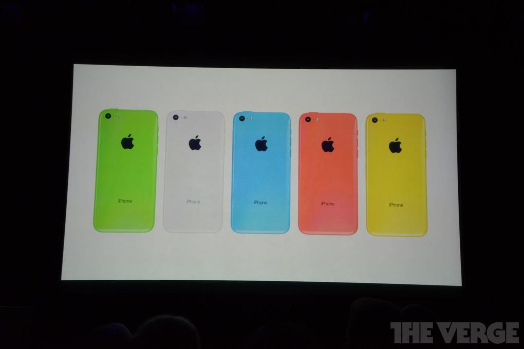 iPhone 5C colori scocca
