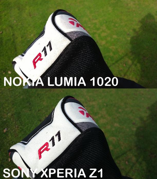 Nokia Lumia 1020 vs Sony Xperia Z1 particolare