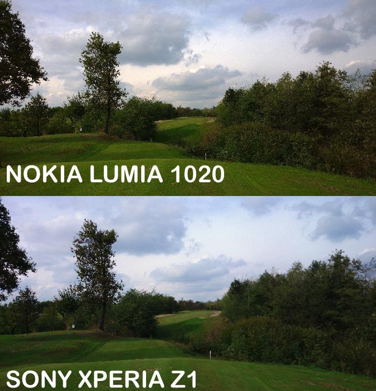 Sony Xperia Z1 vs Nokia Lumia 1020 paesaggio