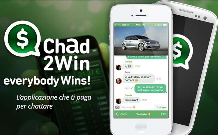 Chad2Win: l'anti-WhatsApp ti paga per messaggiare [FOTO]