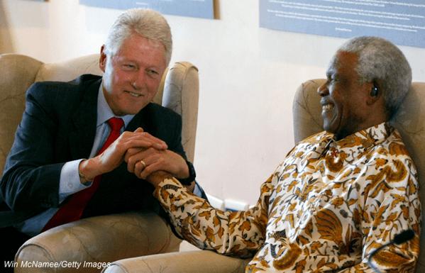 Bill Clinton e Mandela