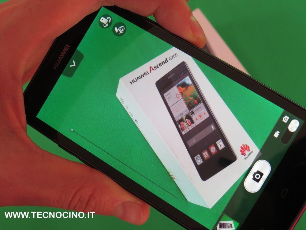 Huawei Ascend G700 menu fotocamera