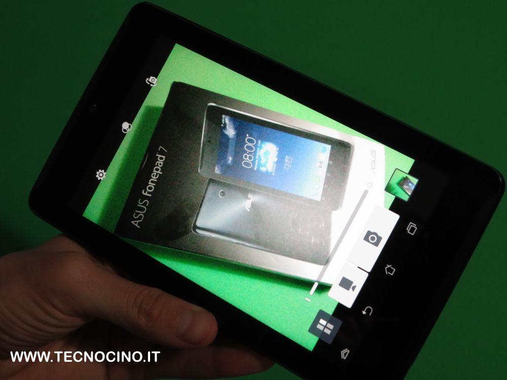 Asus FonePad 7 menu fotocamera