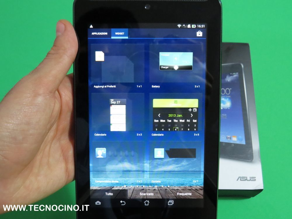 Asus FonePad 7 widget
