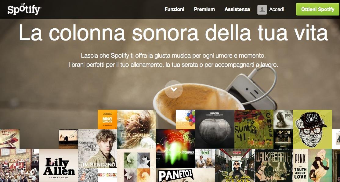 Spotify Italia canzoni streaming