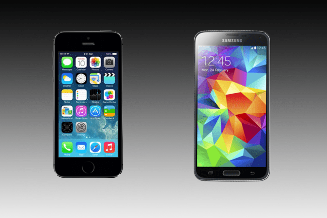 Galaxy S5 vs iPhone 5