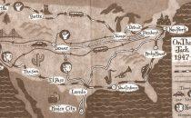 Ebook per seguire svolta per svolta il viaggio di Kerouac Sulla Strada via Google Maps