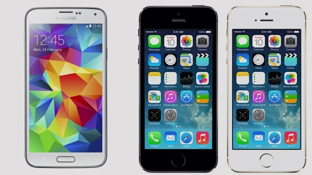 SGS5 vs iPhone 5s