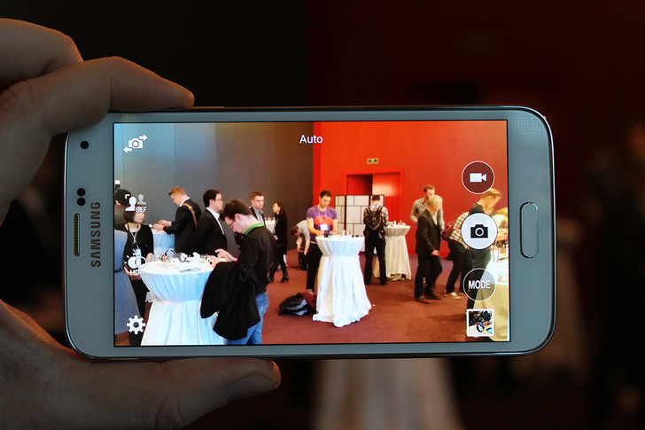 Samsung Galaxy S5 video recording