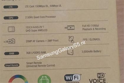 Scatola Samsung Galaxy S5