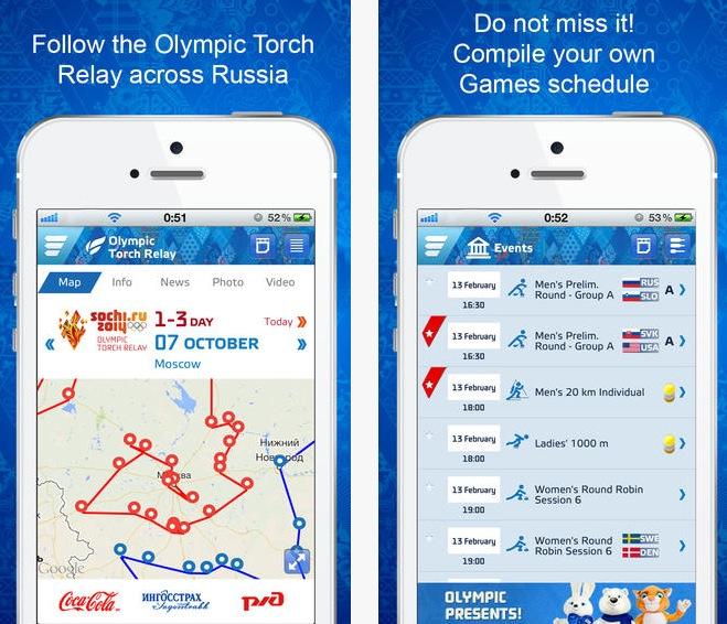 Sochi 2014 app