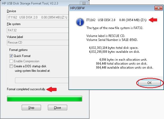 USB Disk storage per aggiornare BIOS con DOS