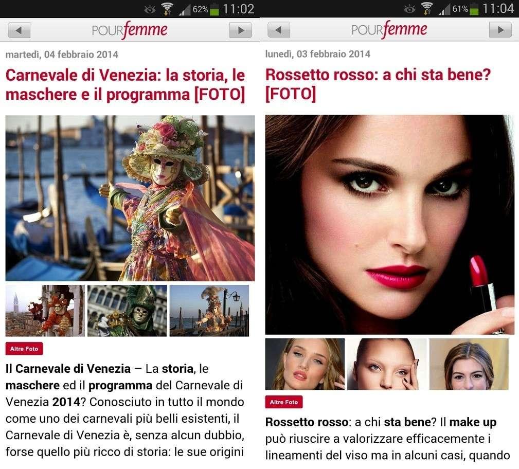 PourFemme: l'app Android per la donna glamour e hitech [FOTO]