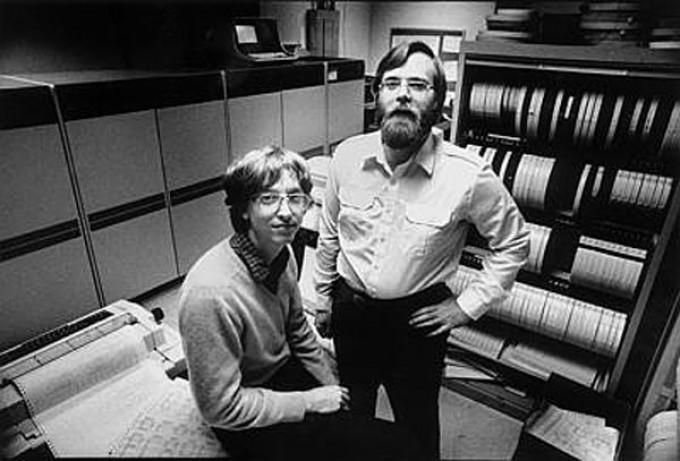 Bill Gates e Paul Allen giovani