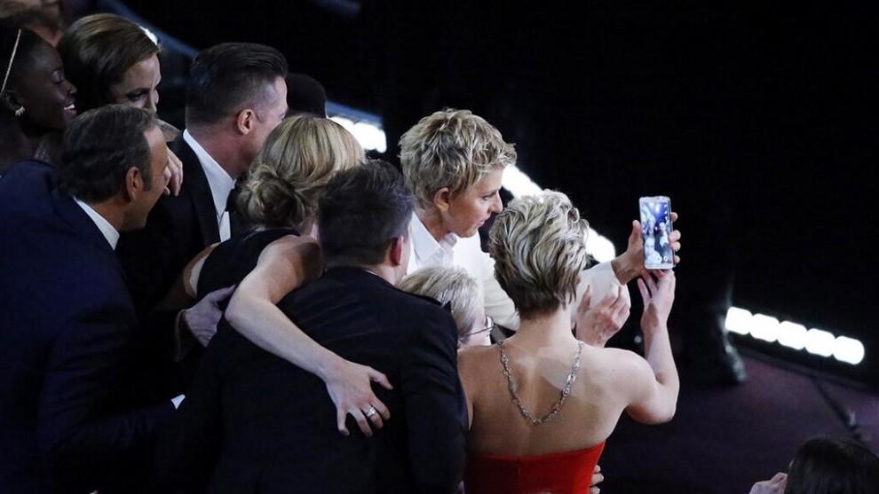 Dietro le quinte del selfie degli Oscar 2014