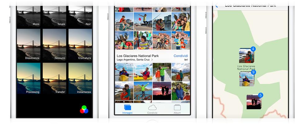Filtri mappe fotografia iPhone 5S