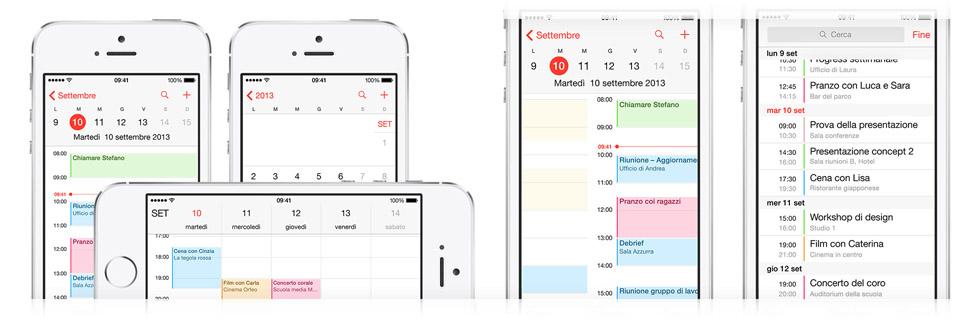 Gestione calendario iPhone 5S