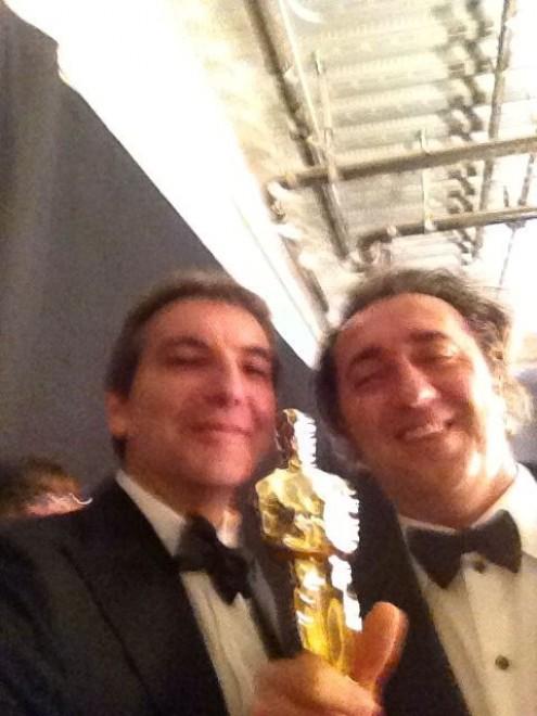 Paolo Sorrentino Nicola Giuliano selfie Oscar 2014