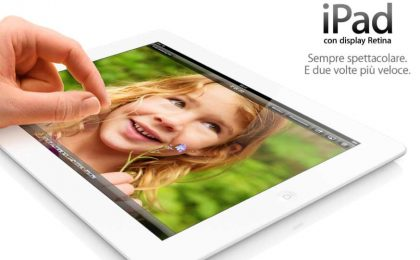 iPad 4 con Retina Display a un prezzo di 379 euro, la scheda [FOTO]