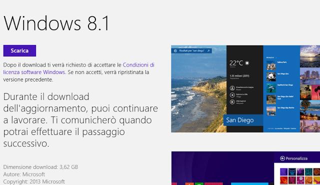 windows 8 1 aggiornamento