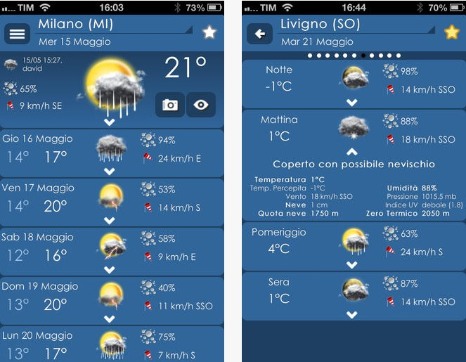 3B Meteo iPhone