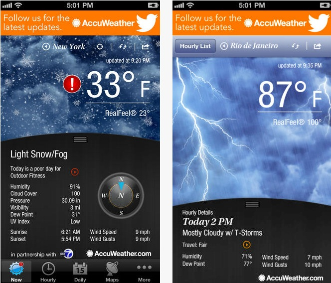 Accuweather iPhone