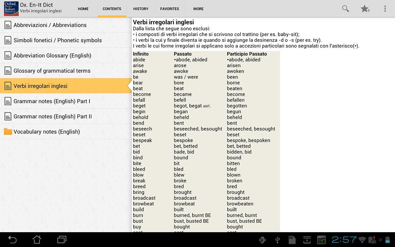 Dizionario italiano inglese, tradurre frasi