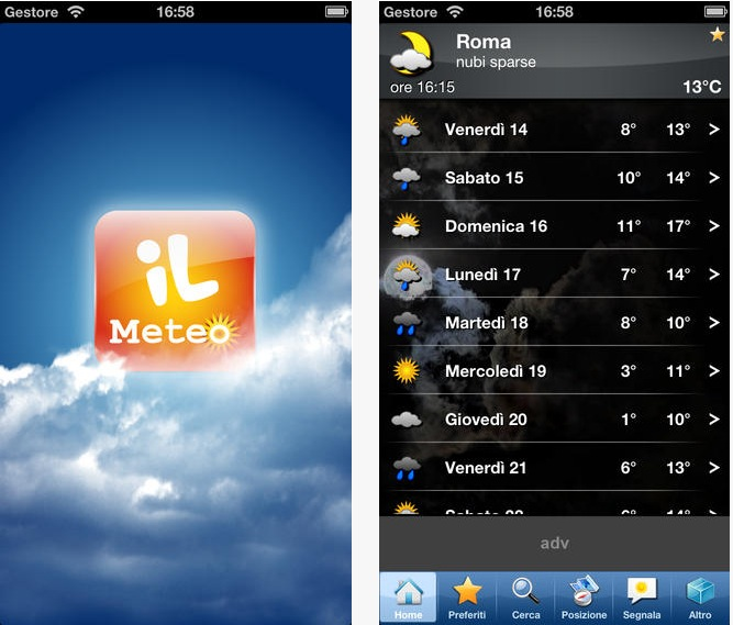 Il Meteo iPhone