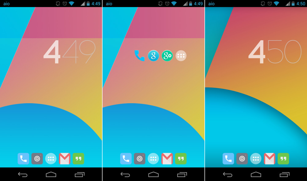 KitKat 4.4 Launcher per Android