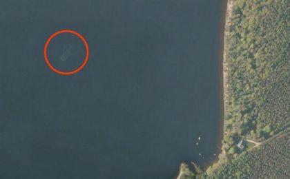 Il mostro di Loch Ness scovato sulle Apple Maps