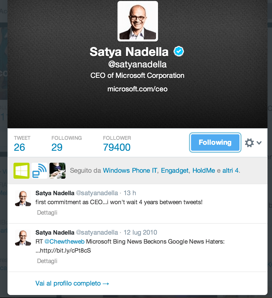 Nadella Twitter