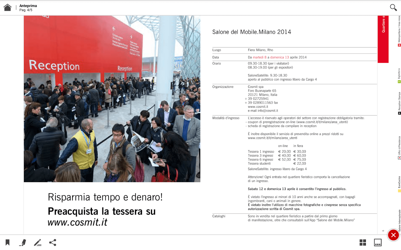 Salone del Mobile 2014 date ore e ingresso