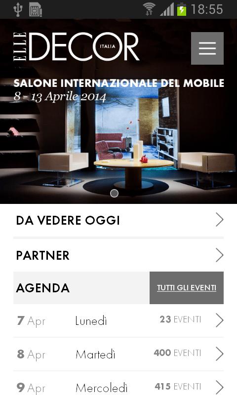 Salone del Mobile app by Elle Decor Italia