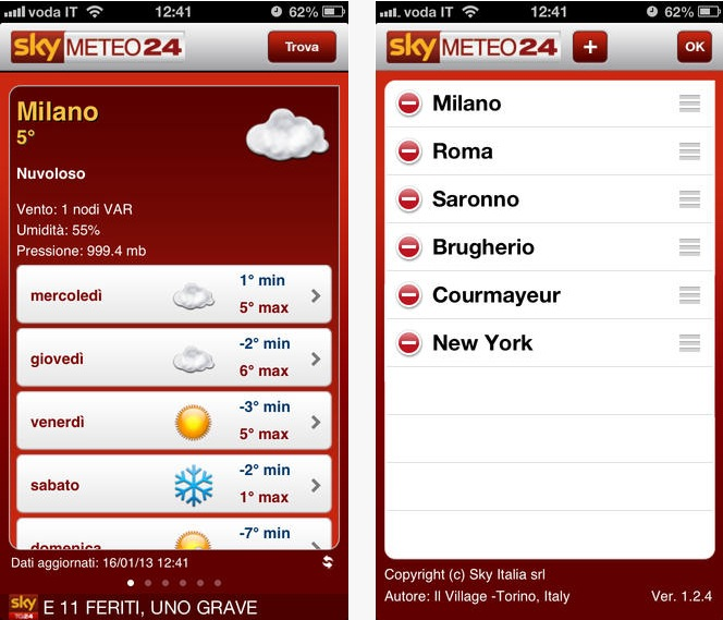 SkyTG 24 Meteo iPhone