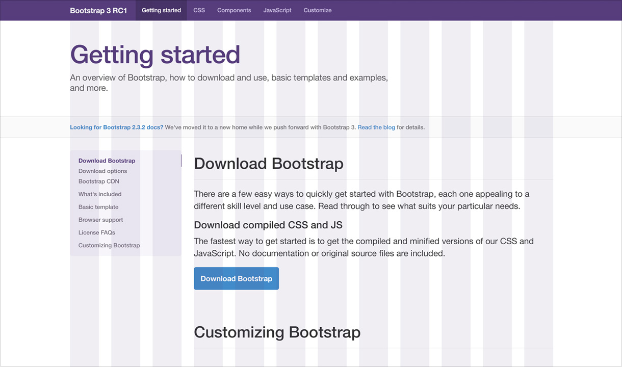 Twitter Bootstrap 3 inizia