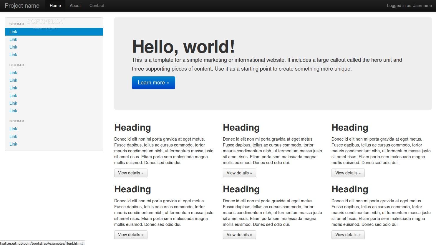 Twitter Bootstrap esempio Hallo World