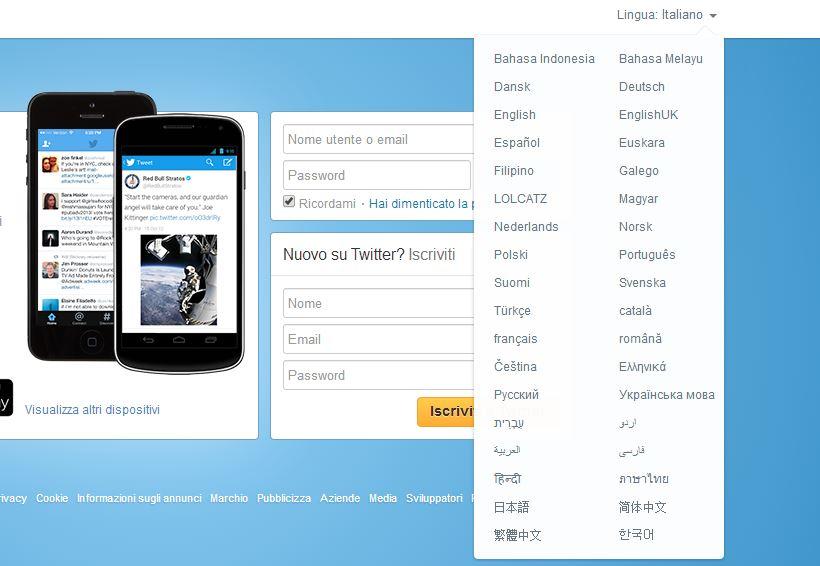 Twitter in Italiano, come iscriversi