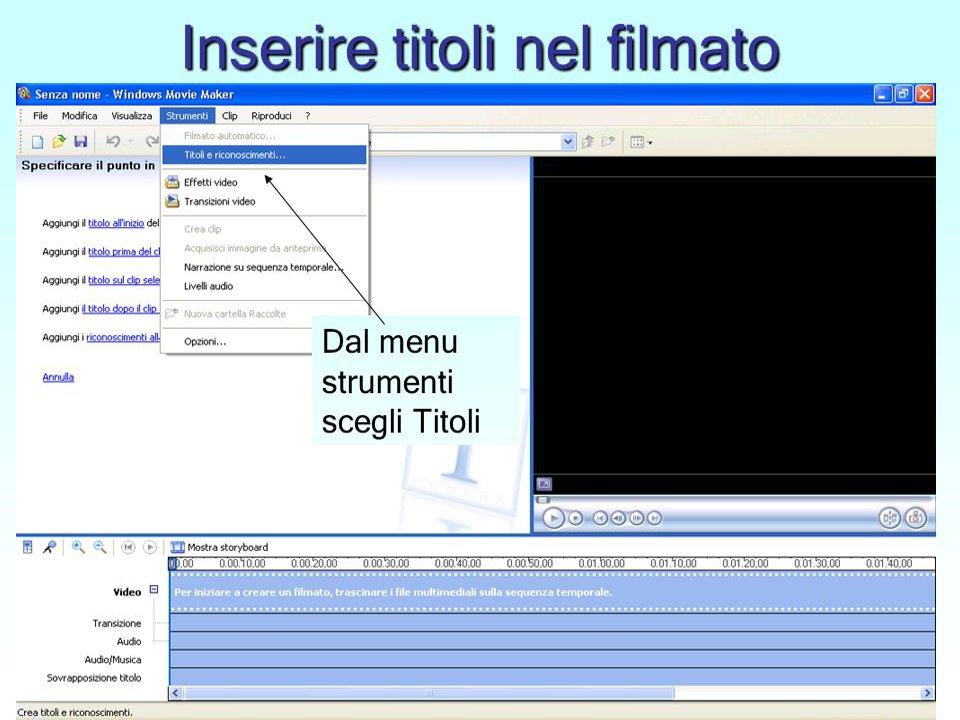 Unire video e sottotitoli