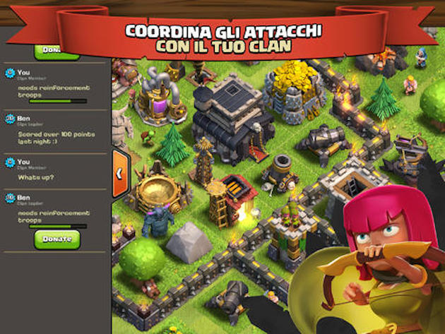 app clash of clans