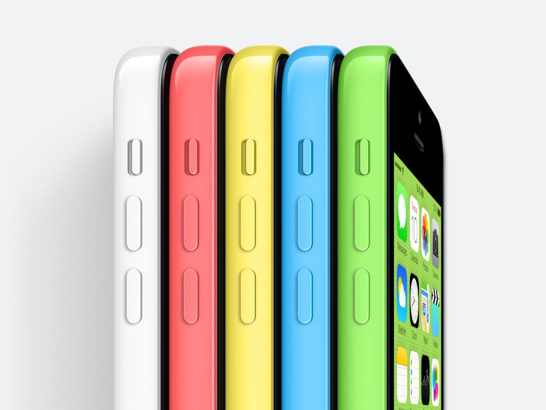 iPhone 5C colori visto di lato