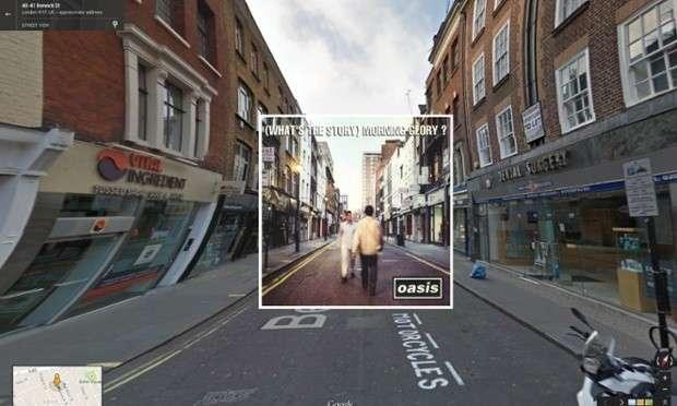 Copertine di album famosi su Google Street View [FOTO]